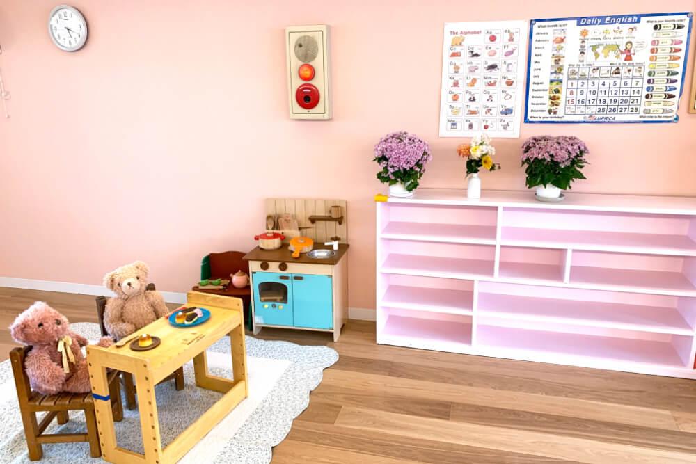 暖かい家庭的な雰囲気の保育室